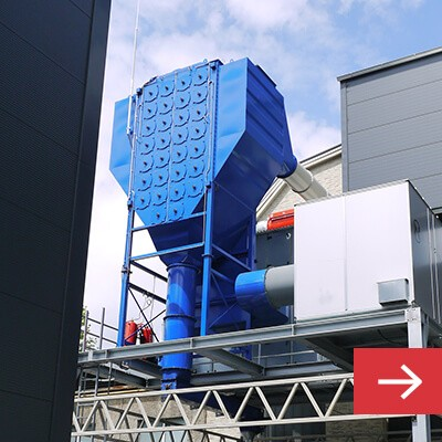 Dust Collector for Industrial Room Ventilation